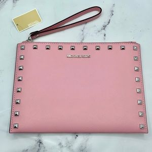 MICHAEL KORS Jet Set Travel Wristlet Carnation